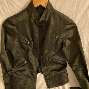 Satin fitted jacket